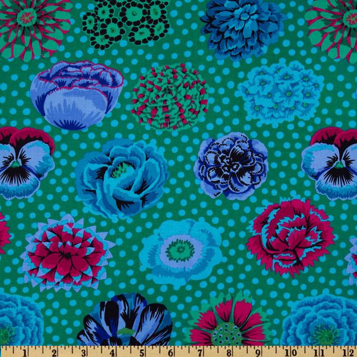Kaffe Fassett Collective Fall Big Blooms Emerald