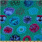 206703 Kaffe Fassett Collective Fall Big Blooms Emerald