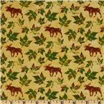 Marblehead Northern Woods Moose &amp; Leaves Gold