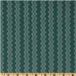 FK-120 Cassandra Zig Zag Stripe Teal Green
