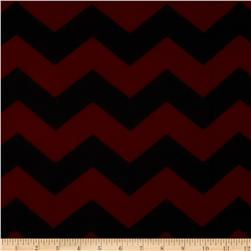 Chevron Fleece Red/Black