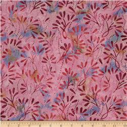 Batavian Batiks Pressed Flowers Purple/Dark Pink