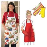 Kwik Sew Adult & Children Apron & Oven Mitt Pattern
