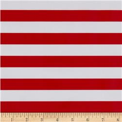 Oil Cloth Stripes Red