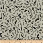 Benartex Habitat Vines Grey/Black