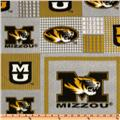 Collegiate Fleece University Of Missouri Plaid Blocks