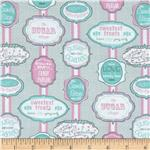 Dottie's Sweet Shop Vintage Signs Grey