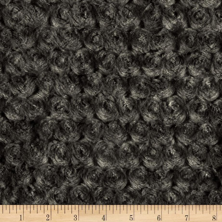 Minky Cuddle Rosebud Charcoal