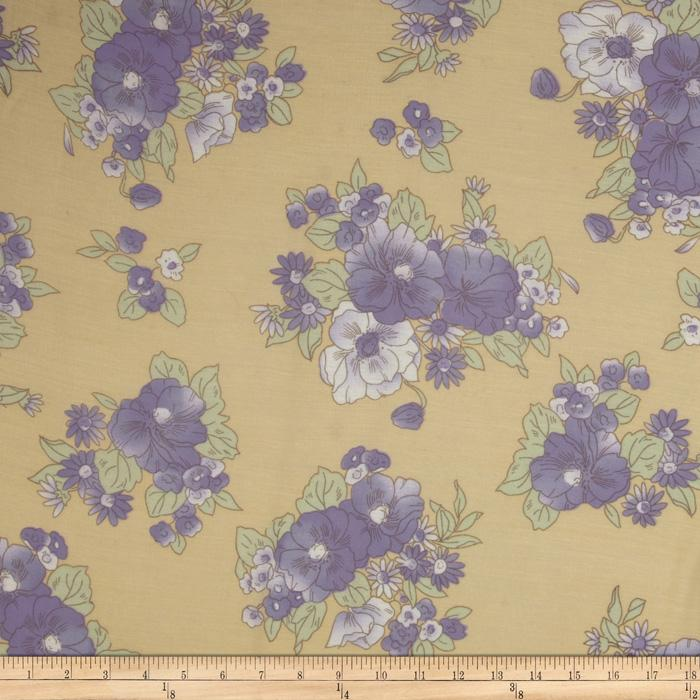 Jonquil Shirting Floral Lavender/Cream