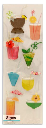 Martha Stewart Crafts Delicious Tropical Drink Stickers