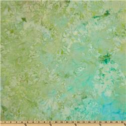 108'' Wide Indian Batik Quilt Backing Monet Green