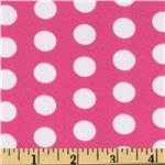 0277461 Printed Broadcloth Medium Polka Dot Hot Pink/White