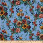 0278438 Camden Large Floral Blue