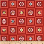 214251 Winterkist Circles & Squares Red