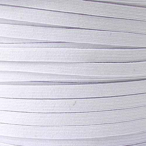 1/4&#39;&#39; Braided Elastic BY THE YARD White