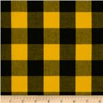 0265012 Prepster Stretch Yarn Dyed Shirting Plaid Black/Yellow