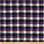 0265206 Yarn Dyed Flannel Plaid Purple/Black/Cream
