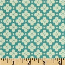 Riley Blake Sidewalks Flannel Hopscotch Blue