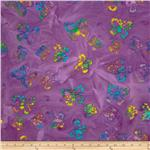 0269809 Indian Batik Butterflies Lavender/Multi