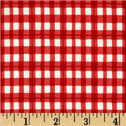 House and Home Plaid Red