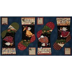 Angels From Above Stocking Panel Blue/Multi
