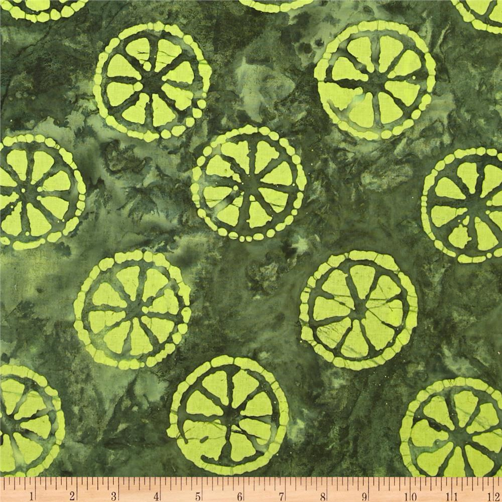 Indian Batik Lemondrop Green