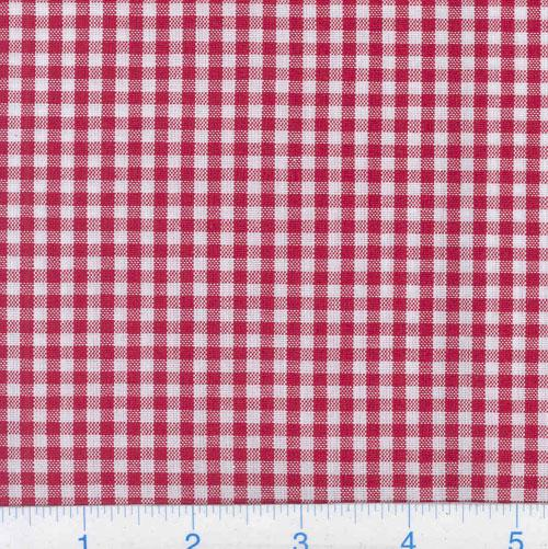 Woven &#39;1/8&#39;&#39; Cotton Gingham Red
