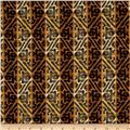 Tiki-Tini Lounge Tiki Woodblock Stripe Brown