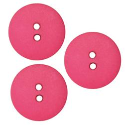 Fashion Button 3/4'' Peoria Hot Pink