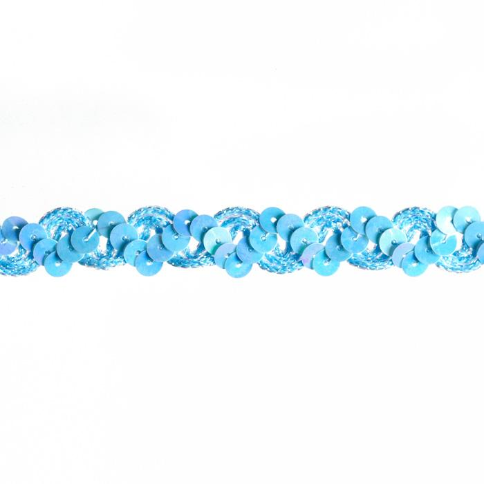 "5/8"" Sequin Trim Iridescent Light Blue"