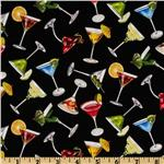 Happy Hour Martini Glasses Black