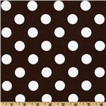 214384 Riley Blake Dots Medium Brown