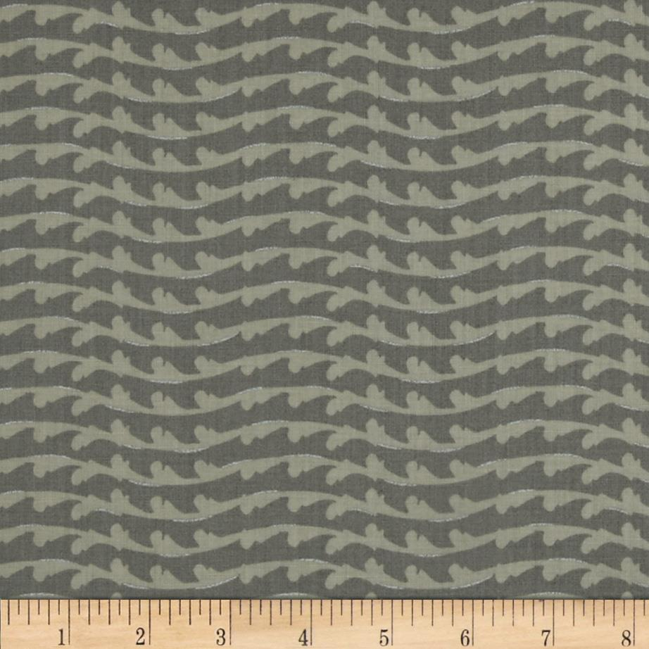 Fairmount Park Metallic Flourish Stripe Taupe