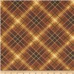 0265526 Sienna Collection Plaid Cognac
