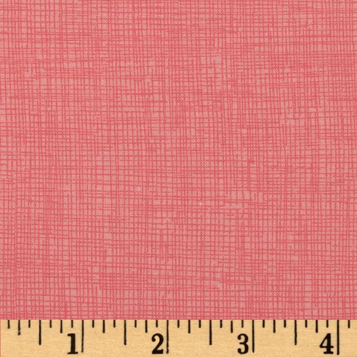 Timeless Treasures Sketch Coral Pink