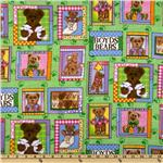 FS-771 Boyds Bears Flannel Bear Patch Multi