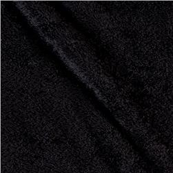 Double-Sided Minky Fleece Black