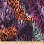 Marni Double Knit Abstract Animal Print Purple