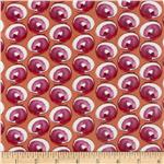 0281831 Happiness Laminated Cotton Swirly Fuchsia
