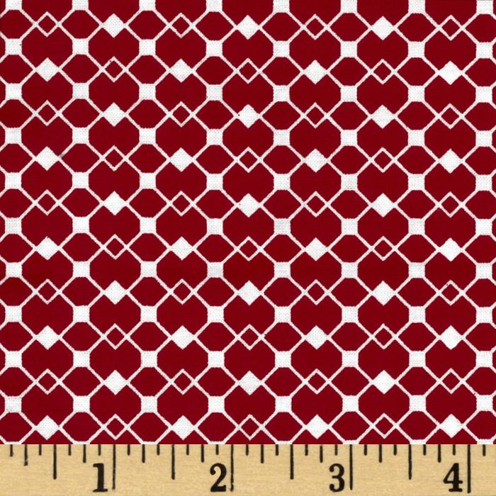 Mod Designs Diamond Squares Red/White