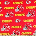 CK-208 NFL Cotton Broadcloth Kansas City Chiefs Red/Yellow