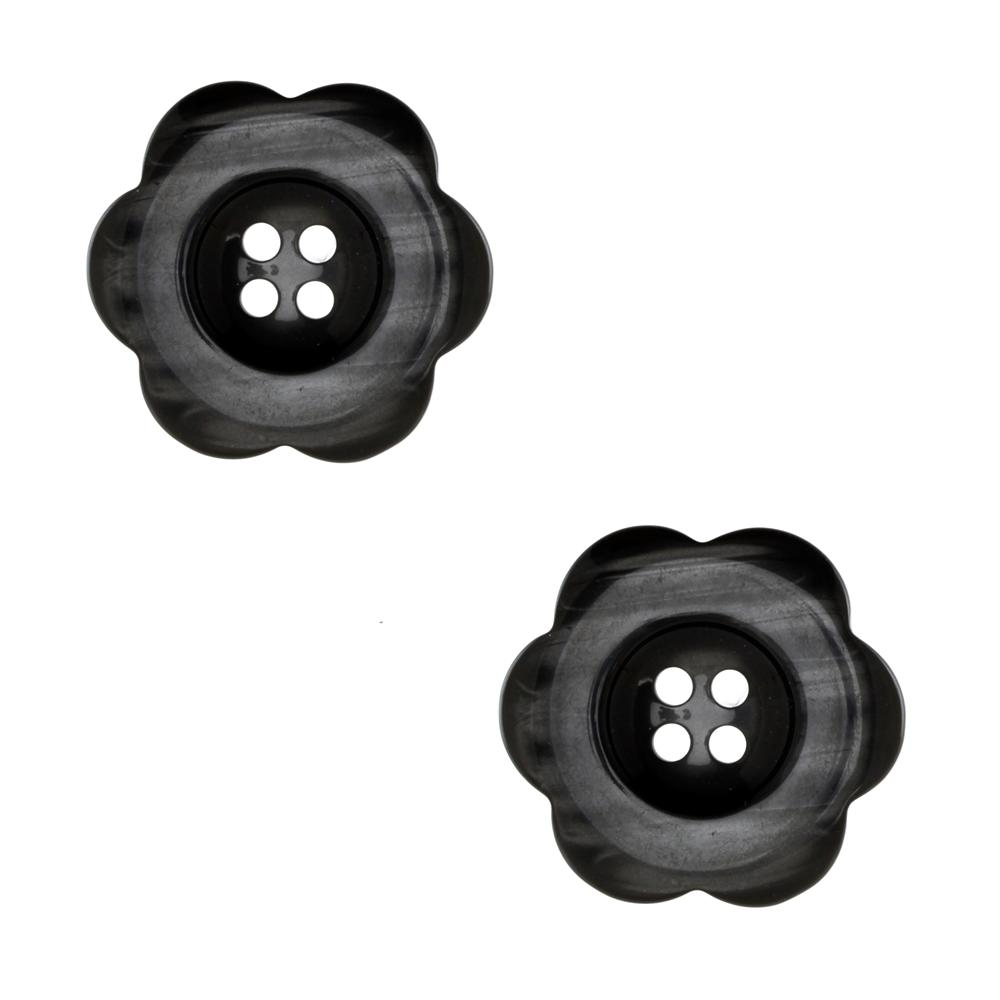 "Riley Blake Sew Together 2"" Flower Button Black"