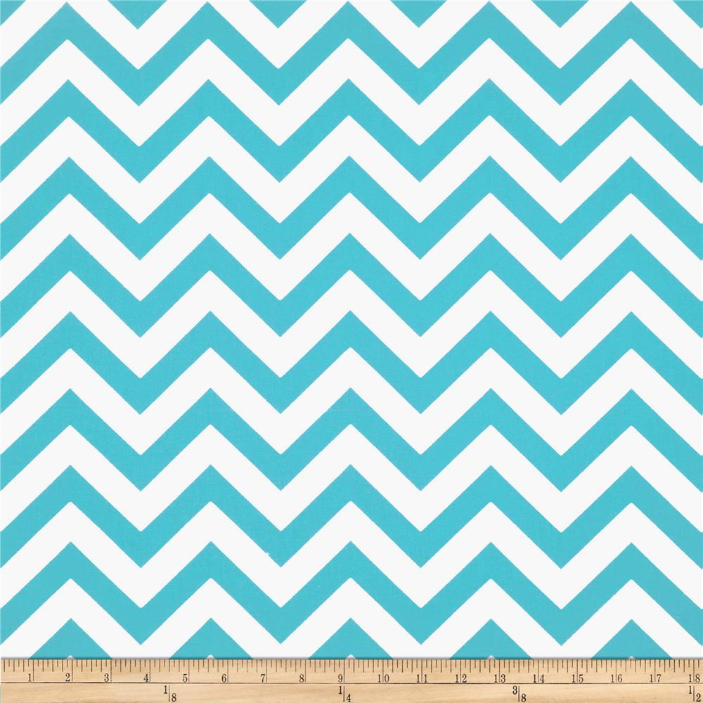 Premier Prints ZigZag Twill Girly Blue