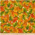 Shades of the Season 6 Metallic Autumn Leaves Large Harvest Cream