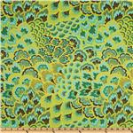 Amy Butler Home Dcor Soul Blossoms Twill Joy Peacock Feathers Sea Green