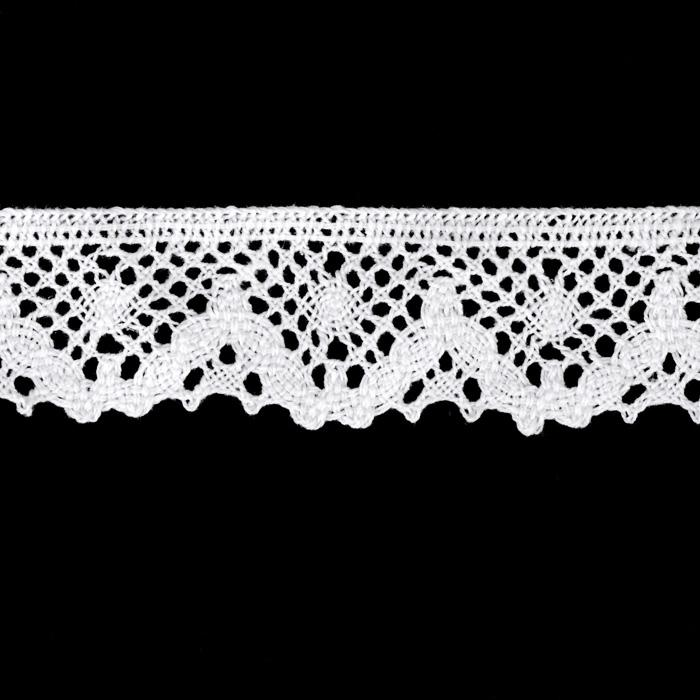 "Riley Blake Sew Together 1 1/4"" Crocheted Lace Trim White"