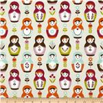0271712 Riley Blake Little Matryoshka Dolls Cream