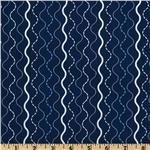 FR-602 Michael Miller &#39;Shore Thing Makin Waves Stripe Navy