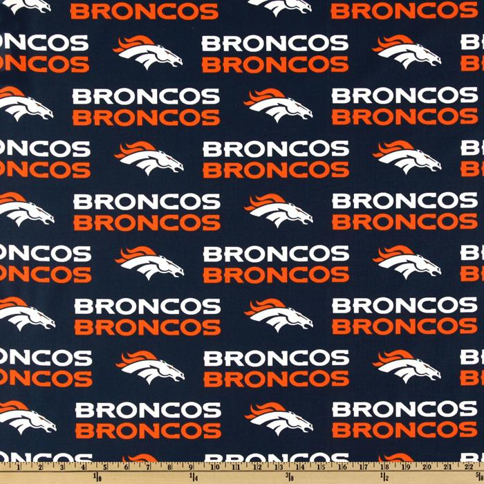 NFL Cotton Broadcloth Denver Broncos