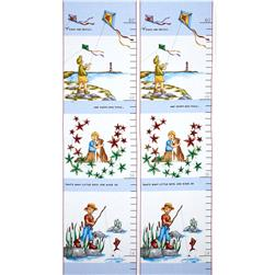 Sprout and Spell Boy Growth Chart Panel Retro